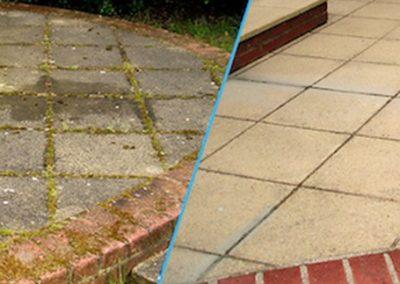 Čištění a mytí betonové dlažby 03