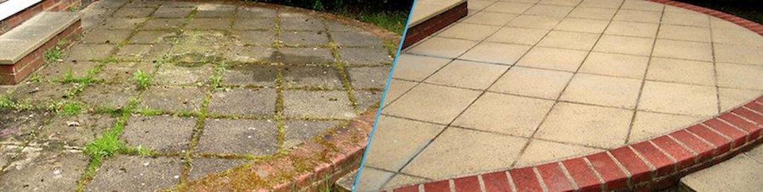 Čištění a mytí betonové dlažby