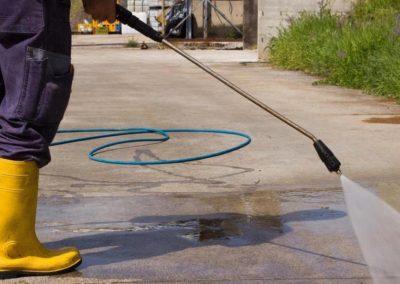 Čištění a mytí betonové dlažby 05